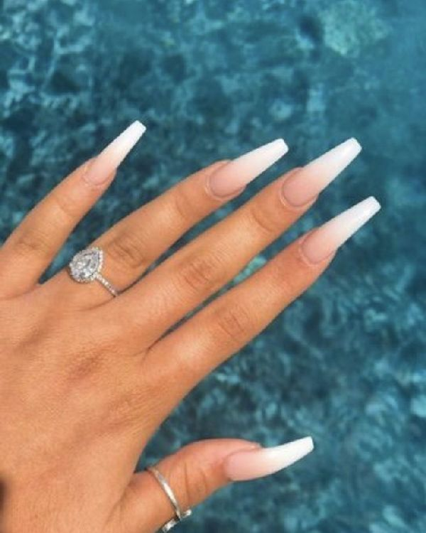 51 Fabulous Ways To Wear Glitter Nails Designs For 2020 Summer Nails Summer In 2020 Ombre Acrylic Nails White Acrylic Nails Pretty Acrylic Nails