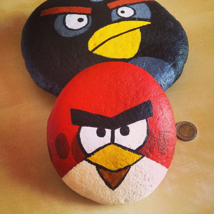 Rock painting #angrybirds
