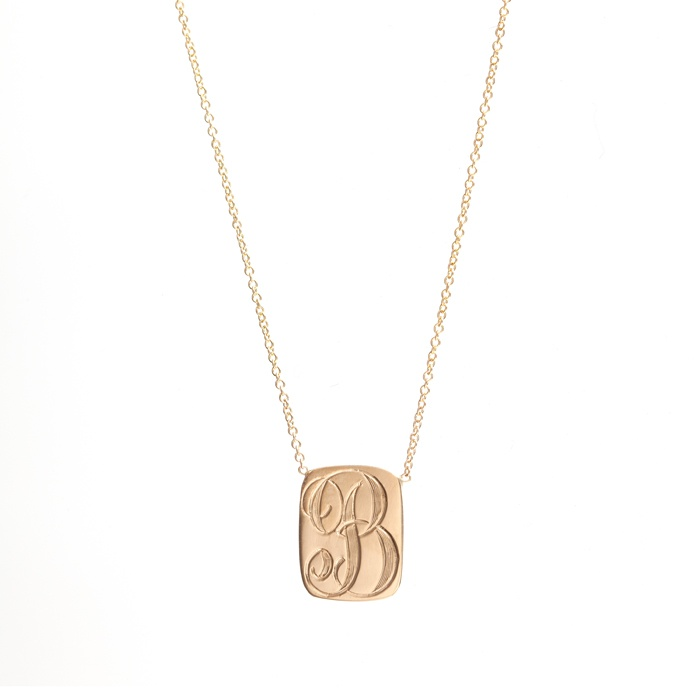 Signet Dog Tag Necklace: First letter of my name!! <3