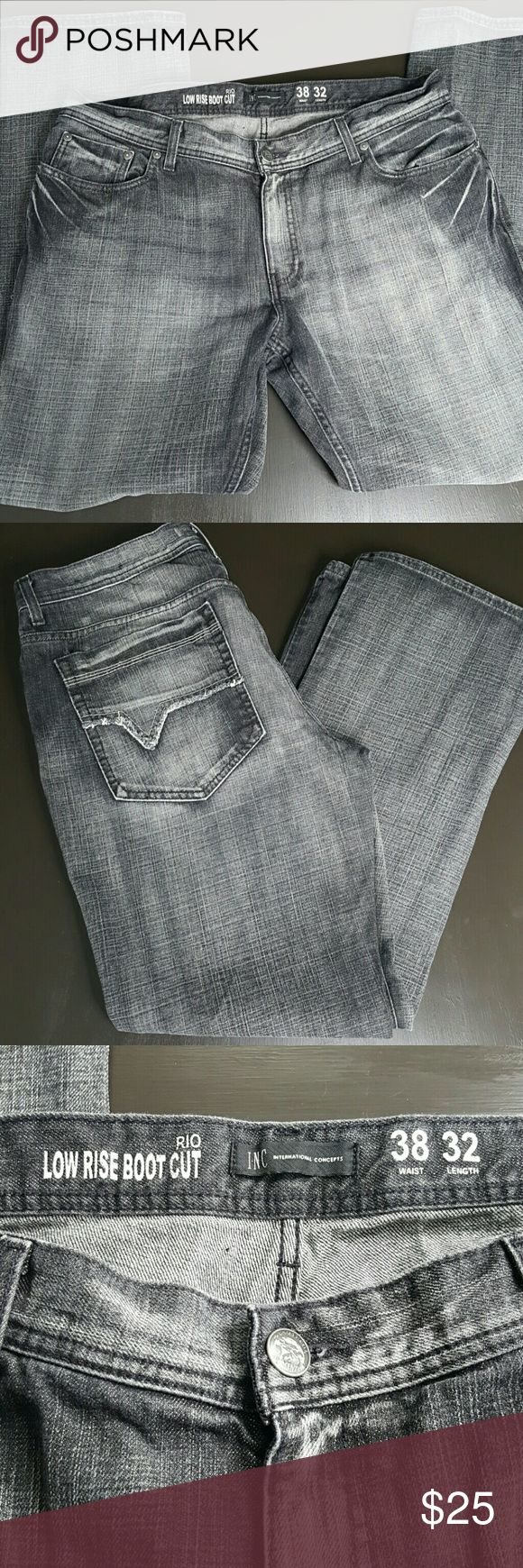 INC Low Rise Bootcut Jean's 38x32 INC Low Rise Bootcut Jean's 38x32 Great Condition INC International Concepts Jeans Bootcut