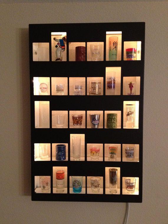 Best 20 glass display shelves ideas on pinterest for Glass bottle display ideas