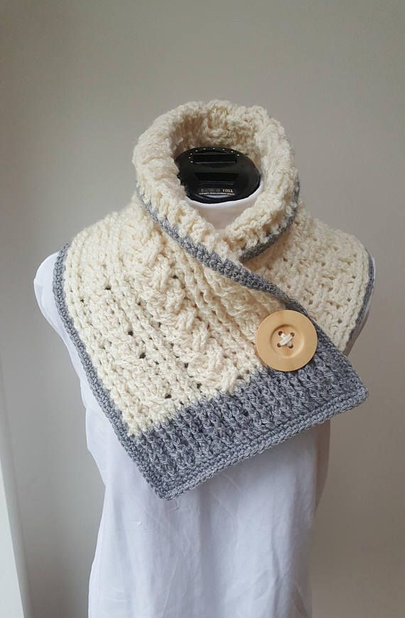 crochet aran neckwrap/scarf/cables by avondale handmade on etsy