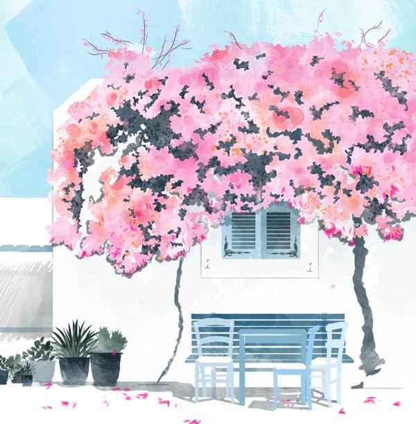 Una tarde de verano, de esas cálidas pero en las que se empieza a sentir la brisa, que mueve las hojas de los árboles a tu paso, como si emanaras un aura efímera. Un universo de colores pastel y aromatizado a las finas hierbas en el que las preocupaciones quedan atrás. Si ya tienes la imagen en tu cabeza, seguro que concuerda con la de los GIFs de Babeth Lafon, una parisina afincada en Berlín con once años de experiencia en la industria del arte y el diseño. Esta ilustradora de moda y…