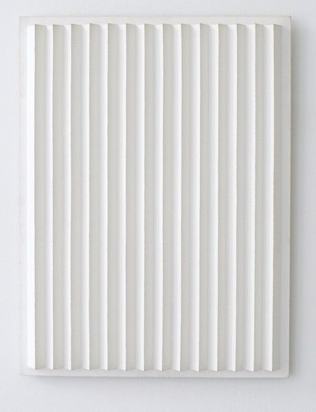 Jan Schoonhoven, R91-3, 1991  Latex paint, paper, and cardboard, 60 x 45 x 3.8 cm