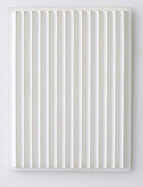 Jan Schoonhoven, R91-3, 1991  Latex paint, paper, and cardboard, 60 x 45 x 3.8 cm