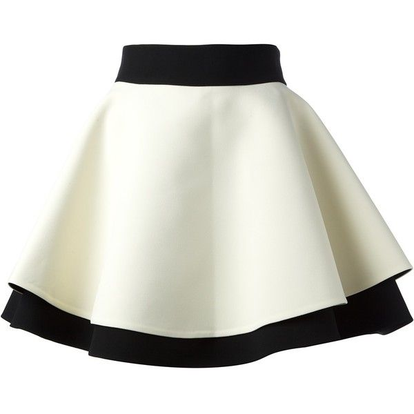 FAUSTO PUGLISI layered umbrella skirt found on Polyvore