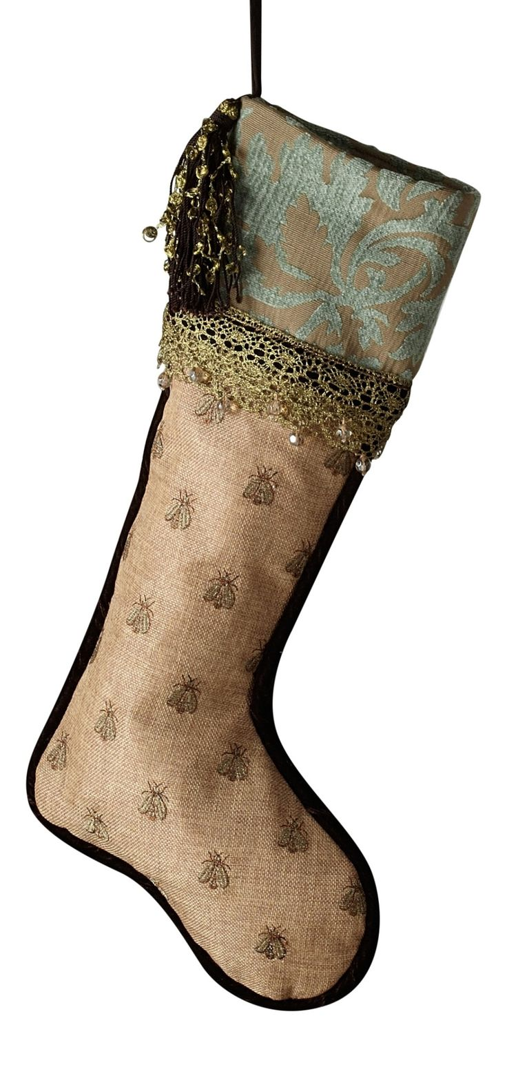 Donna Steven's Patina Jacquard Embroidered Stocking