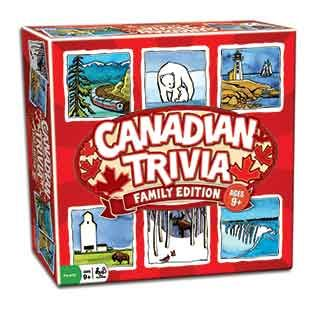 Canadian Trivia Family Edition!  The perfect party game for family and friends.  Ages 9+