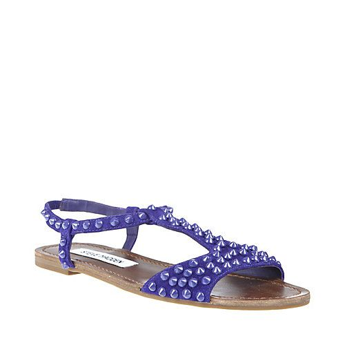 Shop Nickiee T Strap Suede Sandals From Steve Madden clear and white
