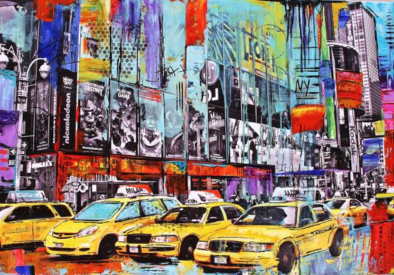Art painting abstract pop art painting new york acrylic painting from jolina anthony fast and free shipping