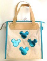 Disney Parks Mickey Mouse turquoise icon tote purse