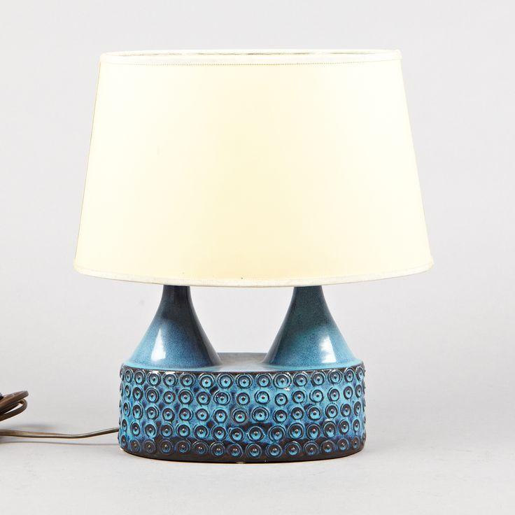 Stig Lindberg; Glazed Ceramic Table Lamp for Gustavsberg, 1950s.