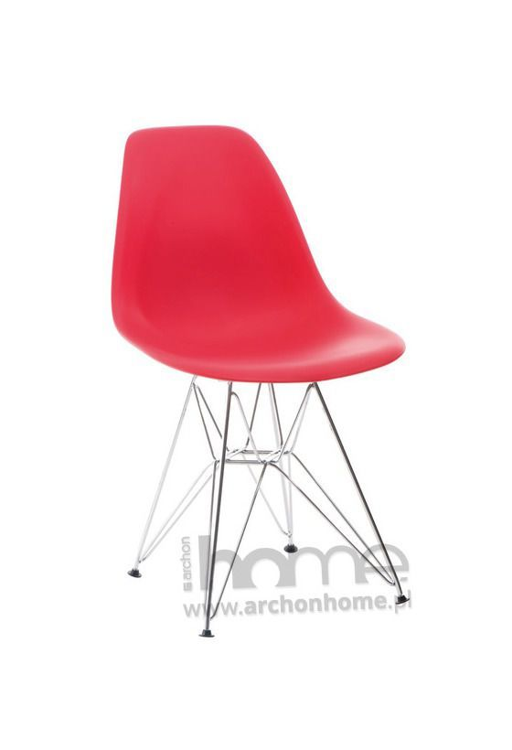 Krzesło Socrates czerwone chrom, archonhome.pl