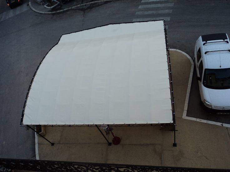 Les 25 meilleures id es concernant bache pergola sur - Bache coupe vent pour terrasse ...