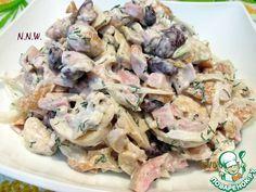 Баварский салат из копченой курицы с фасолью - кулинарный рецепт