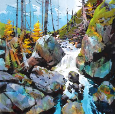 Artist: Michael O'Toole, Title: A Stream in Kananaskis Country - click on image to enlarge
