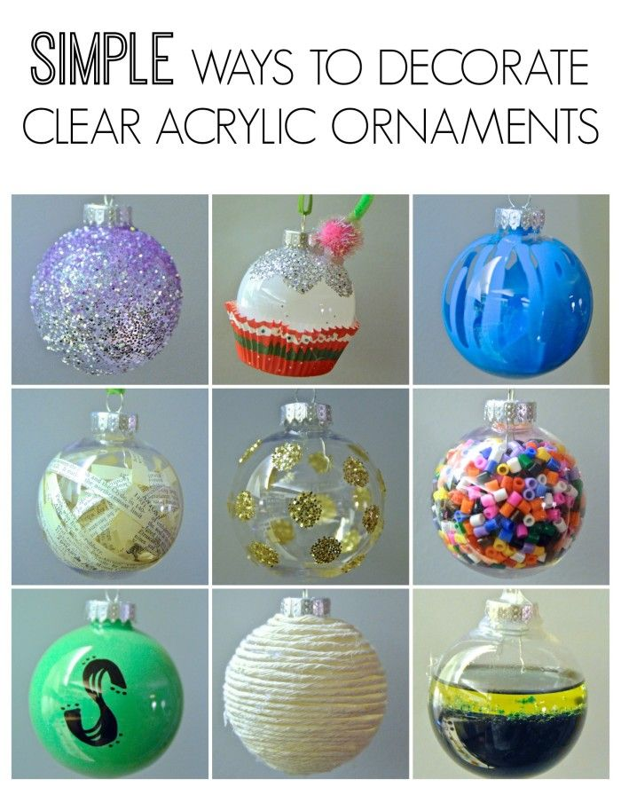 You know those clear ornaments you find at craft stores this time of year? Well here are nine simple ideas for decorating them.