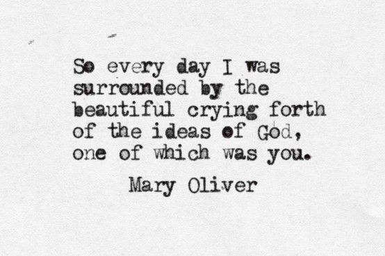 Mary Oliver. One of my favourite poets.