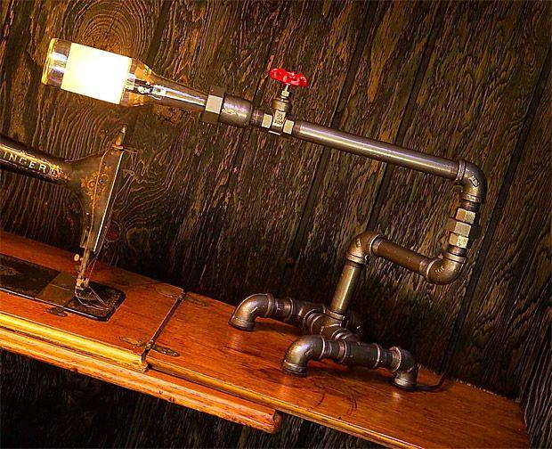 Beer bottle plumbing fixture desk light furniture for Plumbing light fixtures