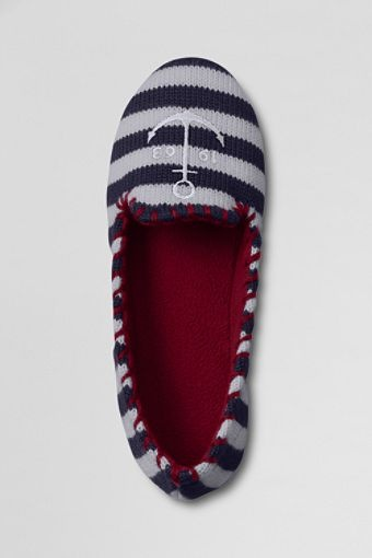 How adorable are these nautical slippers from Lands' End?! {I so Need new house slippers}