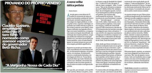 Petistas ironizam empresário anti-PT cujo filho é assessor de Beto Richa: 'Provando do próprio veneno'