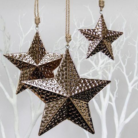 Copper Star Hanging Decorations