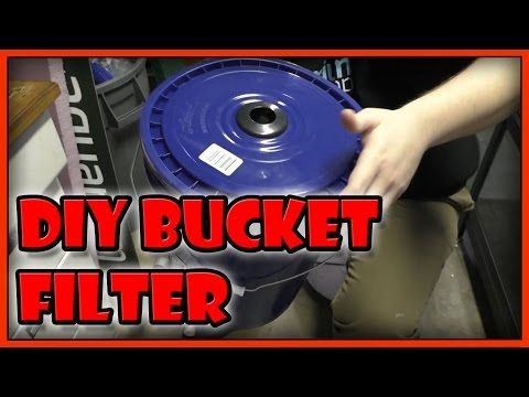 DIY Aquarium Bucket Filter. Fish Tank/Pond Canister Filter. Home Made Bioball Tower filter. - YouTube