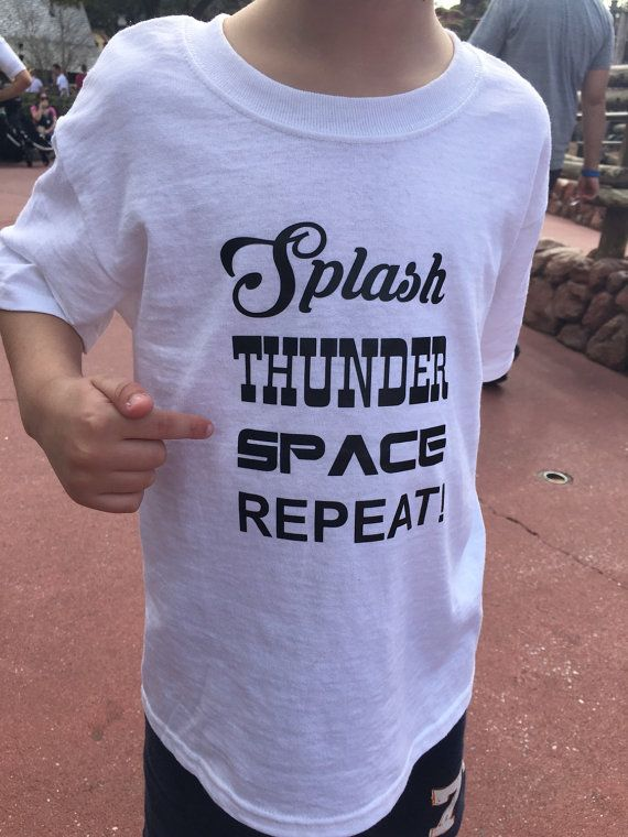 Splash Thunder Space Repeat T Shirt Disney World Family Vacation Matching Tee Shirt Mountain Toddler Youth Adult Ladies Womans Mens S M L XL