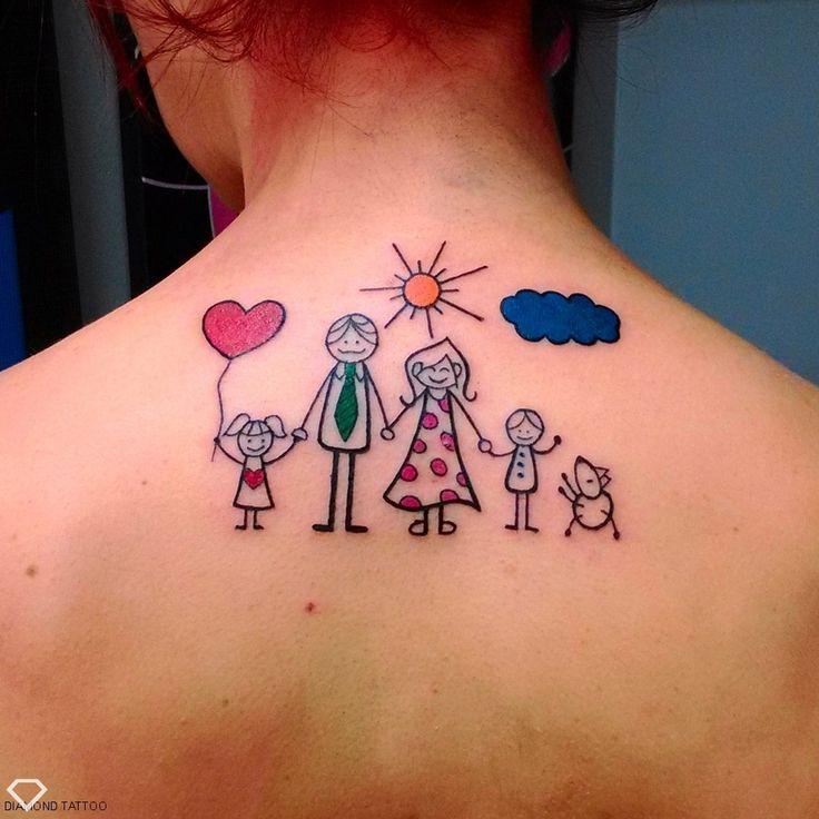 Oltre 25 fantastiche idee su tatuaggi sulla famiglia su for Idee tatuaggi nomi figli