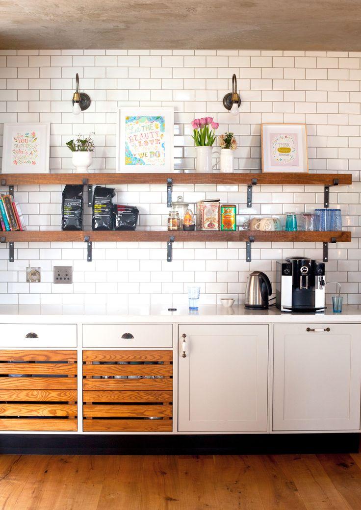 Coffee Station in the kitchen #farmhousekitchen #farmhouse