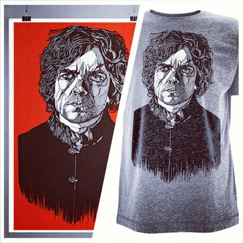 Use the Tyrion Lannister tee to express your love of Game of Thrones through a visual medium. The print is also available!