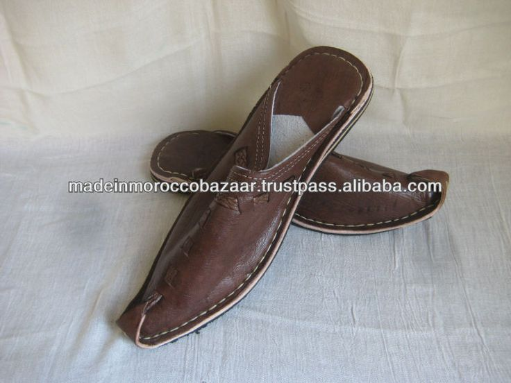 Vintage Handmade Genuine Leather Moroccan Slippers