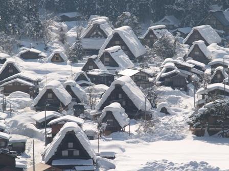 白川郷 Shirakawago, The world cultural heritage, Gifu pref. Japan