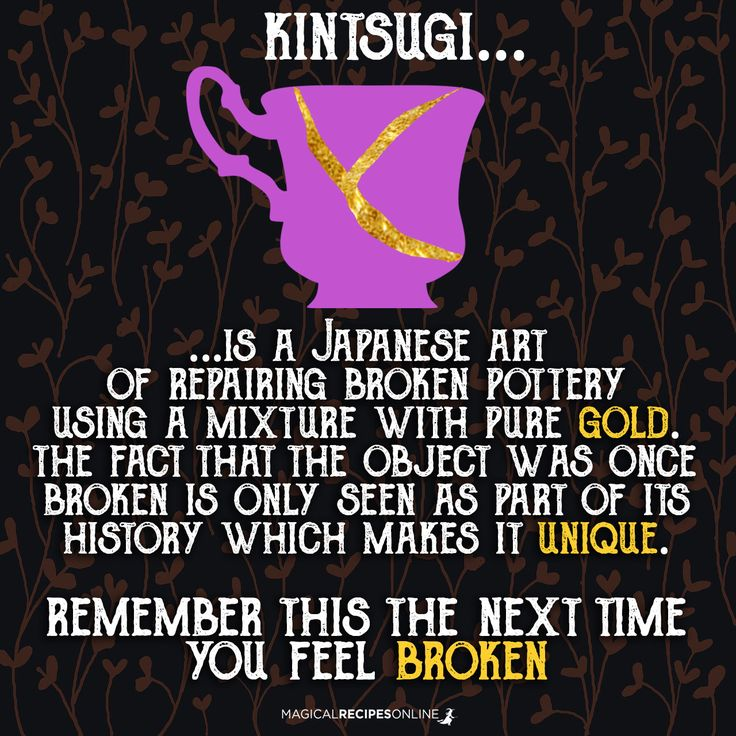 Kintsugi. Repairing Ancient relics with gold.