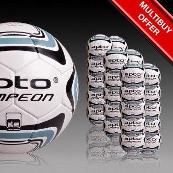 Apto Sports White Campeon Training Balls - footballs balls Apto Sports