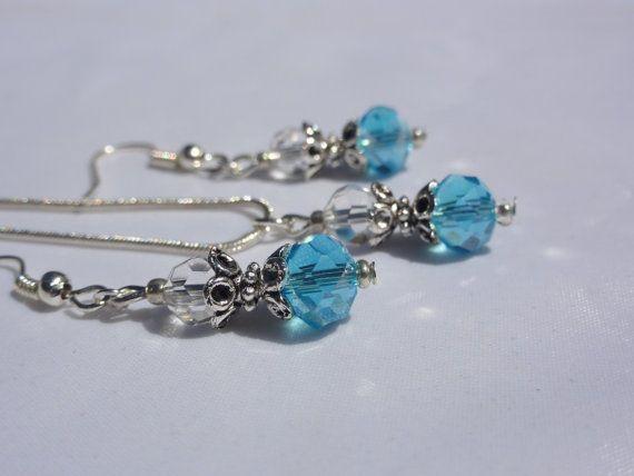 Wedding Jewelry Something blue Blue Crystal by StunningGemsJewelry
