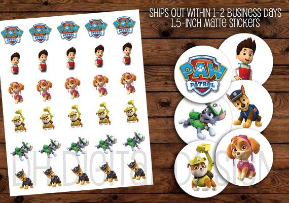 Paw Patrol Stickers 1.5inch MATTE Paw Patrol by DHDigitalDesign     Paper & Party Supplies Paper Stickers, Labels & Tags Stickers Paw Patrol Paw Patrol stickers Rubble Skye Ryder Rocky Matte Chase Paw Patrol Party Stickers Paw Patrol Paw Patrol Birthday Paw Patrol Theme Paw Patrol Labels