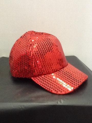9a9ea13b653 Red sequin ball cap