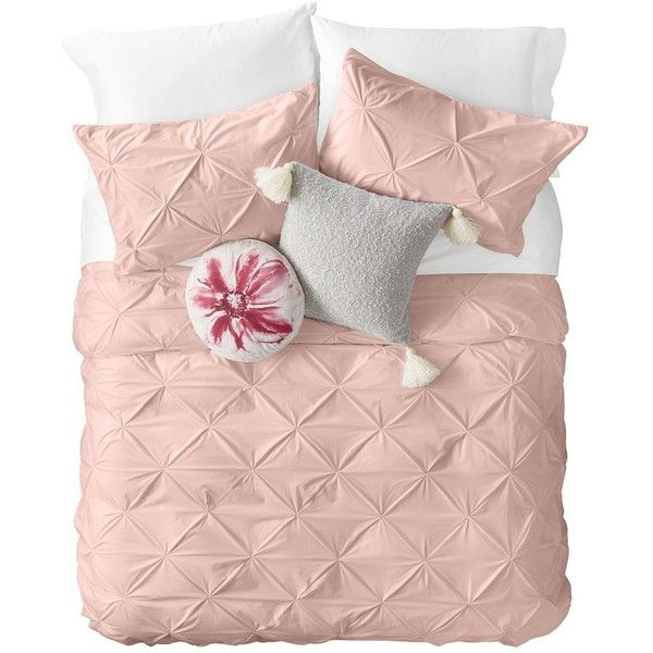 Nordstrom Rack Corey Texture King Duvet ($90) ❤ liked on Polyvore featuring home, bed & bath, bedding, pink peach, king duvet, king size bed linen, peach bedding, pink king size bedding and king bedding