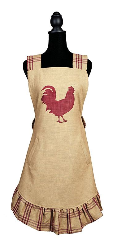 Red Rooster Decorative Full Kitchen Apron