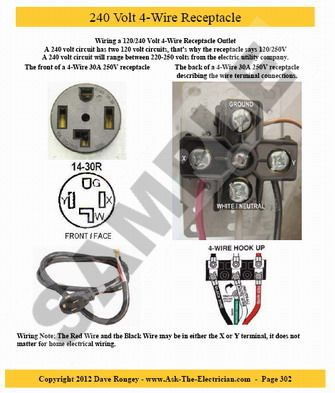 240 volt 4-wire receptacle | Electrical Home Wiring | House wiring Back Of Outlet Wiring Circuit on outlet insulation, outlet wiring connections, outlet wiring diagrams, outlet wiring design, outlet wiring voltage,