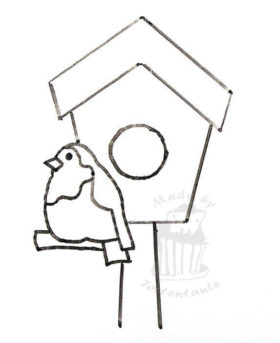 Vogelhaus_vorlageJPG (573×700) Vogelhaus Haus Vorlagen
