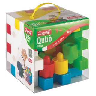 $29.99 - Let?s build a tower together!• The Qubo Set is an 18-piece set includes:• 5 interlocking blocks • And 13 jumbo stacking pegsr• Holes in pegs allow stackingr• Interlocking blocks feature built-in male and female connections for stacking and building with the pegsr• Blocks form storage for the pegs when not in use.Like Stacking Toys? See ?em all here!