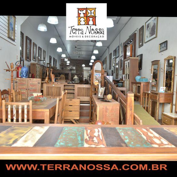Loja de móveis Terra Nossa, muitos modelos para pronta entrega e pode ser feito sobre medida Móveis de Madeira de Demolição para sala, quarto, varanda e cozinha, são mesas, racks, armários, estantes...