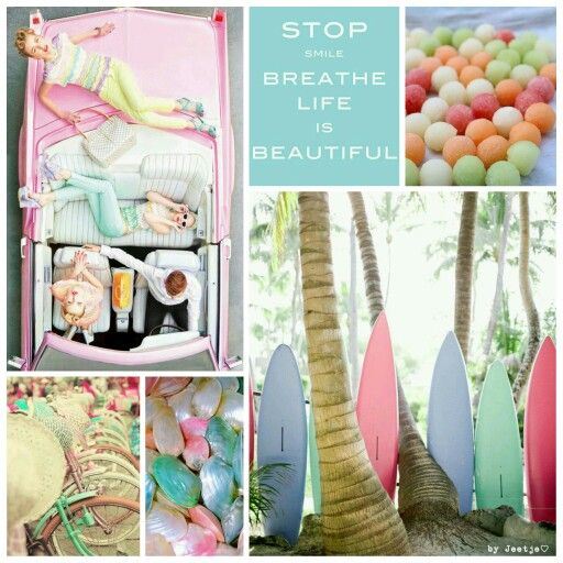 Stop, smile, breathe, life is beautiful. #moodboard #mosaic #collage #inspirationboard #byJeetje