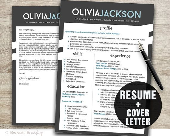 resume template with matching cover letter easy editable word files make the best first