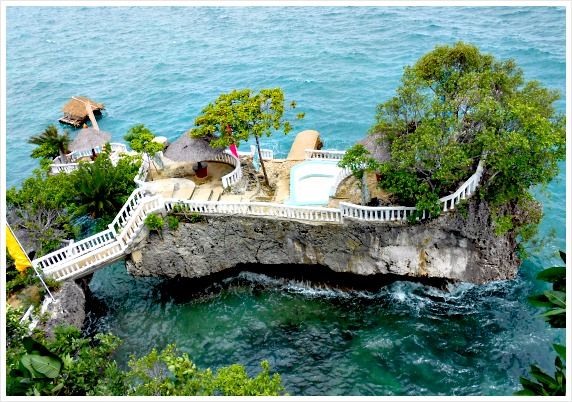 A small rock resort on Camotes Islands, Cebu, Philippines