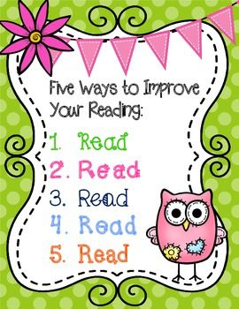 Owl Themed Reading Motivational Posters. Cute and colorful. Great for any owl themed classroom! $