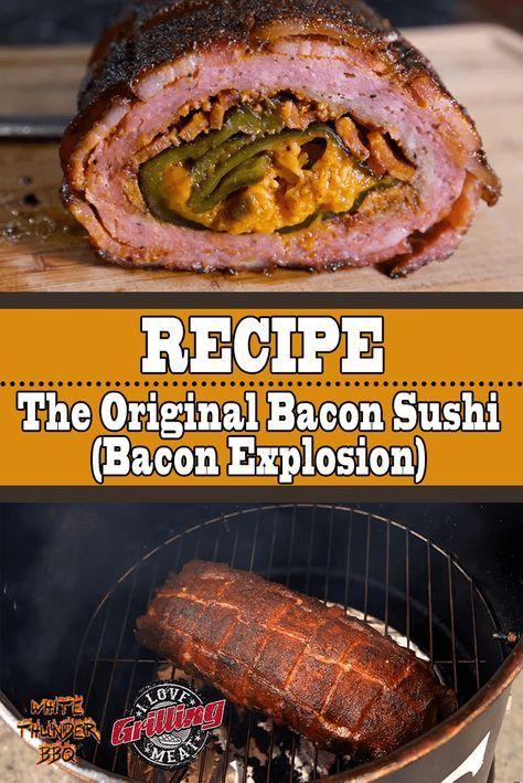 The Original Bacon Sushi (Bacon Explosion Recipe)