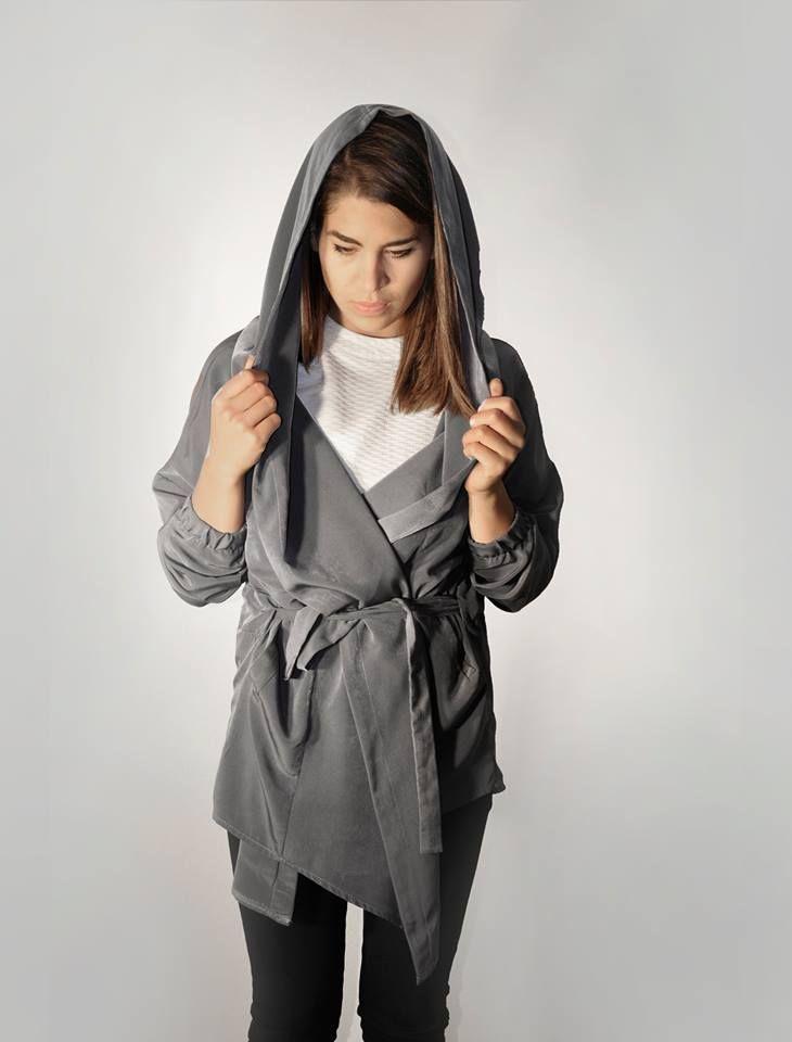 cape grey coat graphite women outfit backstg.com backstage
